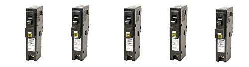 Square D by Schneider Electric HOM120PCAFIC Homeline Plug-On Neutral 20 Amp Single-Pole CAFCI Circuit Breaker, (5-(Pack))