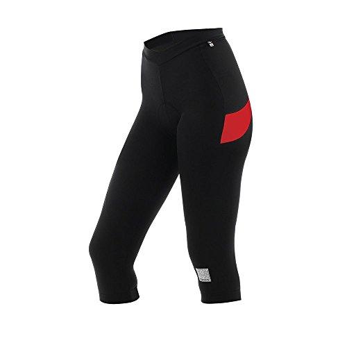 Santini - Radsport-3/4-Hosen für Damen in Schwarz/Rot, Größe 3XL