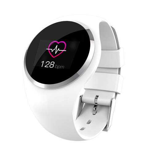 Q1 Bluetooth Lady Smart Horloge Mode Women Hartslagmeter Fitness Tracker Smartwatch App-Ondersteuning Voor Android IOS Smart Band,White