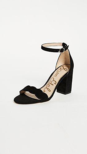 Sam Edelman Women's Odila Classic Heeled Sandal, Black Suede, 5 Medium US