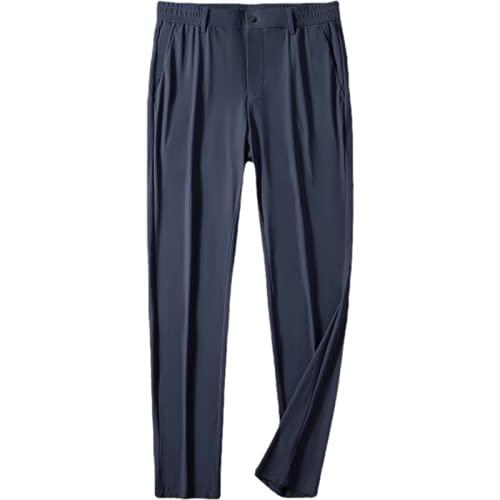Pantalones Casuales para Hombre, sección Delgada de Verano, Color sólido, Deportes al Aire Libre, Jogging con cordón y Bolsillo, Pantalones de Talla Grande 34