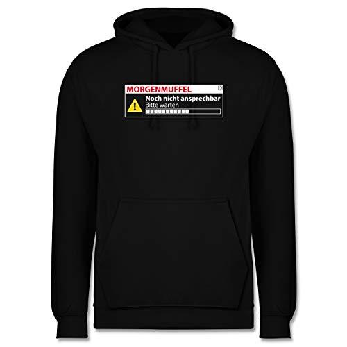 Shirtracer Sprüche Statement mit Spruch - Morgenmuffel - Nicht ansprechbar - XL - Schwarz - Hoodie Herren mit Spruch - JH001 - Herren Hoodie und Kapuzenpullover für Männer