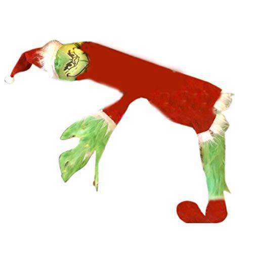 AUTOECHO Juguete Grinch - Cuerpo De Elfo para Decoración De