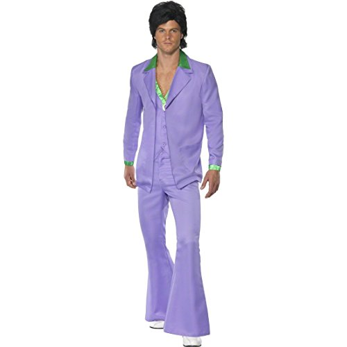 NET TOYS Déguisement Disco Homme Années 70 Tenue Costume de Disco Déguisement pour Homme Années 60 Costard Soirée à Thème Déguisement L 54/56