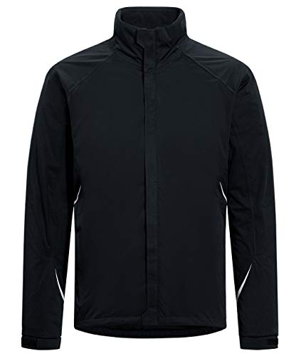 PRO Golf Rain Jacket for Men Women Waterproof, Breathable, Windproof Lightweight Coat for Hiking Cycling Camping Traveling(Black,M)