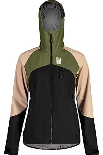 Maloja W Emeritam. Jacke Colorblock-Grün-Pink-Schwarz, Damen Softshelljacke, Größe XS - Farbe Moss