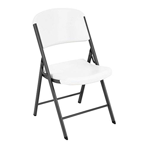 Lifetime 22804 Classic Commercial Folding Chair White Granite 1pack