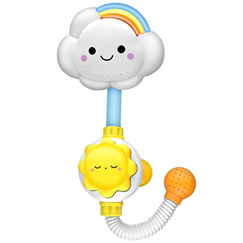 NCONCO Nube Rainbow Baby Shower Juguete de baño para bañera de niño con spray de agua