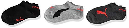 PUMA unisex-child Kids' Bwt Quarter (3 Pack) Socks, grey/black, 27/30 (3er Pack)