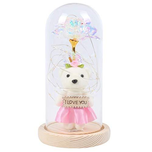 DFSDG Bear Milky Way Rose y Luz en la Bola de Cristal...