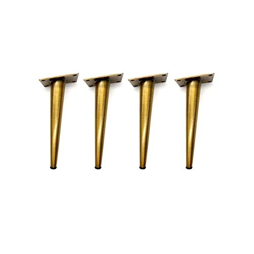 WSWJ 4pcs 7.8''H Gabinete De Muebles De Bronce De Oro Armario De Metal Patas De Metal Pies (80 * 200 Mm)