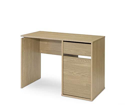 TOP KIT | Mesa de Escritorio Burgos 5212 | Escritorio con cajón y Puerta | Medidas 75 x 120 x 50 cm | Roble