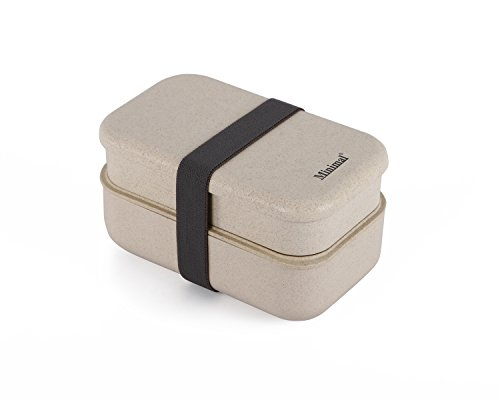 Minimal Natural Fiber Bento Boxes Plus, Natural Color, 41 oz