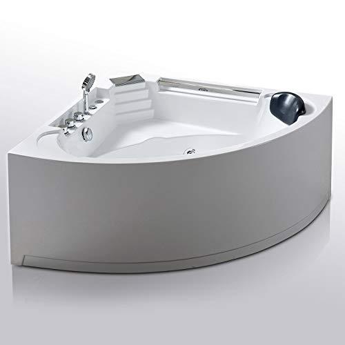 Bubbelbad voor 2 personen meet 135 x 135cm wit badkuip Daisy Model Nieuw