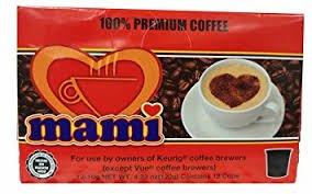 Cafe Mami Puerto Rican Coffee Capsules for Keurig Machine (1 Box of 12 Capsules) K-cup