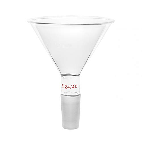 Atfipan 1000mL 24//40 Glass Buchner Funnel 90mm Pore Plate Filtering Funnel Lab Glassware