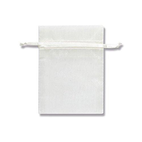 『HEIKO ヘイコー オーガンジーバッグ 平袋タイプ S アイボリー 10枚入 008705024』の1枚目の画像