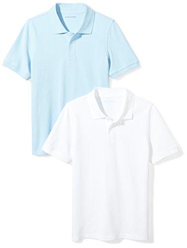 Amazon Essentials Kids Boys Uniform Short-Sleeve Pique Polo Shirts,...