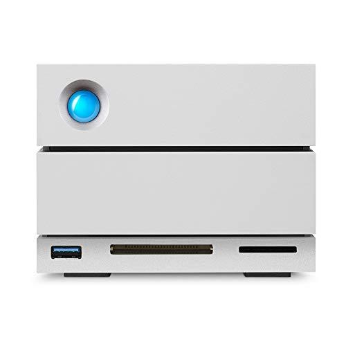 LaCie 2big Dock, RAID, 8TB, Disco duro RAID externo HDD, para Mac y PC, redundancia de datos, Thunderbolt 3, USB-C, USB 3.0, suscripción de 1 mes a Adobe CC, recuperación de datos (STGB8000400)