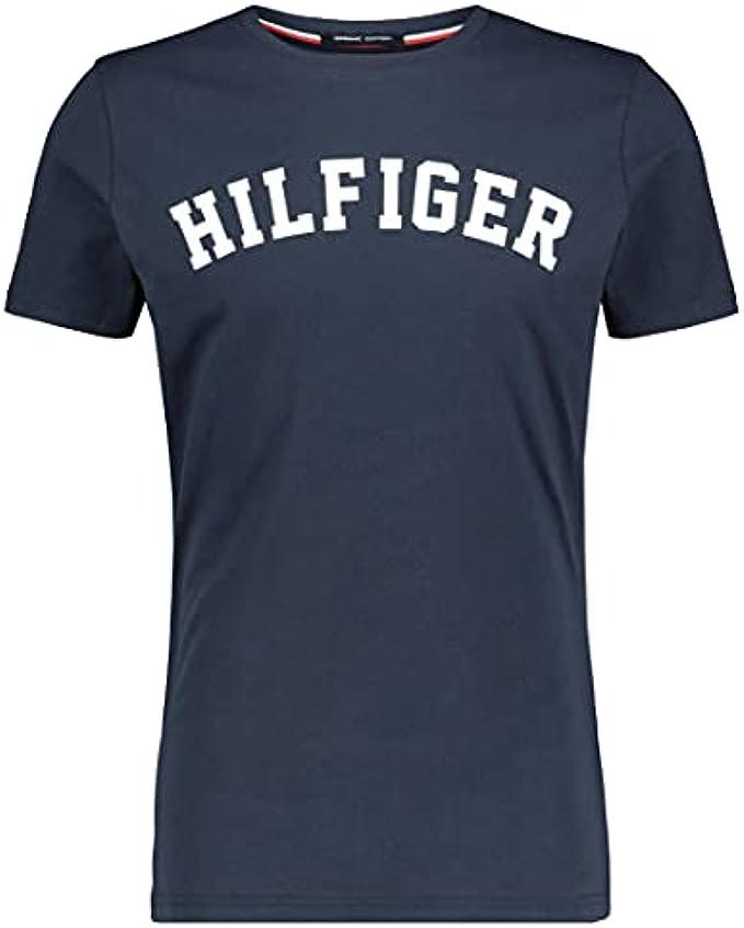 Tommy Hilfiger Men's Arched Logo T-Shirt, Blue