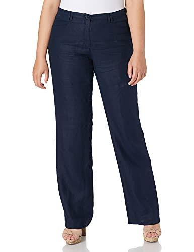 BRAX Farina Linen Love Pantaloni, Blu (Navy 22), W38/L32 (Taglia Unica: 48) Donna
