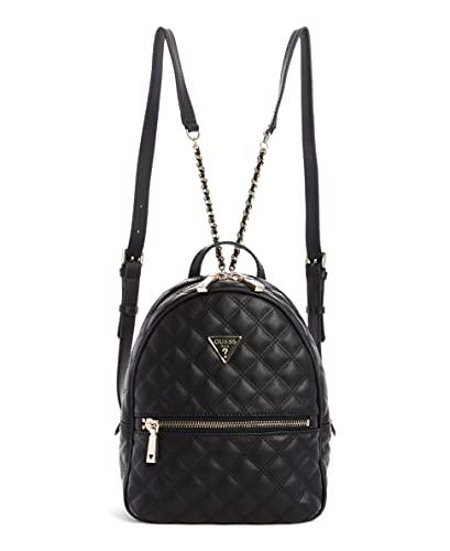 Guess Damen Backpack Cessily Rucksack, schwarz, One Size