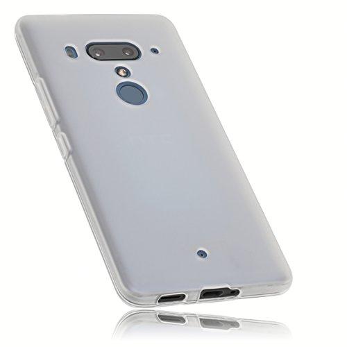 mumbi 27351 Hülle kompatibel mit HTC U12+ Handy Hülle Handyhülle, transparent weiss