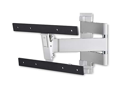 One For All voll schwenkbare OLED-TV-Wandhalterung – Bildschirmgröße 32 bis 77 Zoll – 180° -Drehung und 20° Neigung – Für alle TV-Typen – Max. Gewicht: 40 kg – Max VESA 400x400 – Schwarz-weiß – WM6453