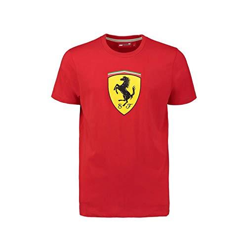 ScuderiaFerrari T-Shirt Ferrari Maglia Ufficiale Uomo Adulto Scuderia Cavallino Maglietta (cm:Spalle 51,Torace 64,Lunghezza 78-XL)
