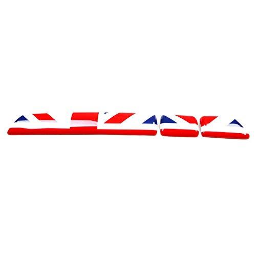 Cubierta de plástico ABS para el panel de instrumentos de interior para Mini Cooper R60 Countryman R61 Paceman (conducción a mano derecha, Union Jack, rojo y azul)