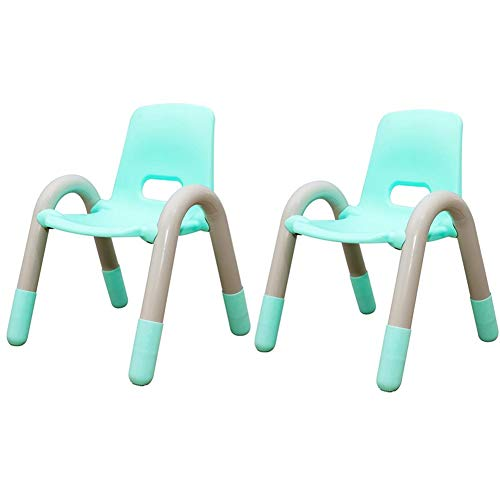 CJC Chaises Deux Pièce, Fort PVC Plastique, Empilable Enfants, Thé Fête Jardin Garderie École Clubs (Couleur : Bleu, Taille : L)