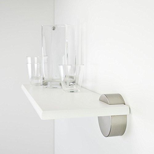 Duraline boekenkast, wandplank incl. dragers cirkel | 60 x 20 cm wit Wit/nikkel