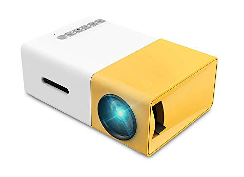 Mini Projector, Portable Pico Full Color LED Movie Projector for Children Present, Video TV Movie, Party Game, Outdoor Entertainment with HDMI USB AV, Remote Control, Porket Pocket