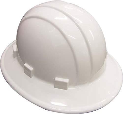 Erb 19911 Sombrero duro de ala completa con ajuste de trinquete, color blanco ✅