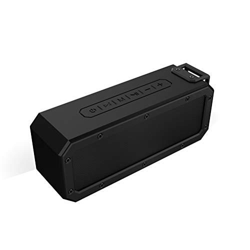 Altavoz Bluetooth, altavoz Bluetooth impermeable de 7 niveles, reproducción de la tarjeta del TF de la ayuda, conveniente para conectar el teléfono móvil Bluetooth, tableta, ordenador portátil,Black