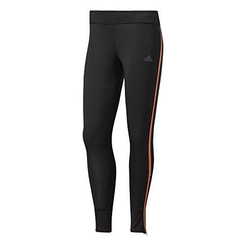 adidas Damen Response Sporthose, Black/Easy Orange, L
