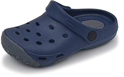Oxgmoky Garden Clogs Shoes for Women Sandals House Slip Slippers Shoes for Men Home Room Shoes Indoor Outdoor Shower Shoe Sport Women's Men's Classic Lined Clog (Women 8/Men 6) Drak Blue