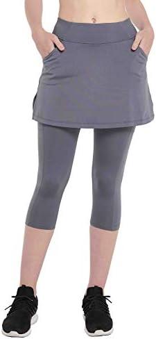 HonourSex Women Skirted Leggings with Pockets Tennis Skirt with Leggings Yoga Pants Running product image