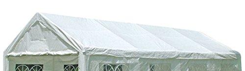 DEGAMO Ersatzdach Dachplane für Zelt 4x8 Meter, PE Weiss 180g/m², incl. Spanngummis …