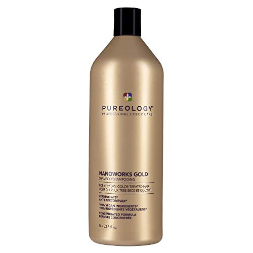 Pureology Nanoworks Gold Shampoo | For Very Dry, Color-Treated Hair | Renews Softness & Shine | Sulfate-Free | Vegan | Updated Packaging | 33.8 Fl. Oz. |