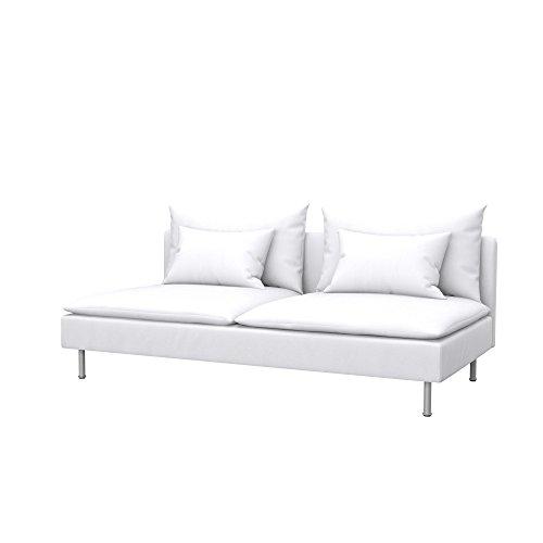 Soferia - IKEA SÖDERHAMN Funda para sofá Cama, Eco Leather White