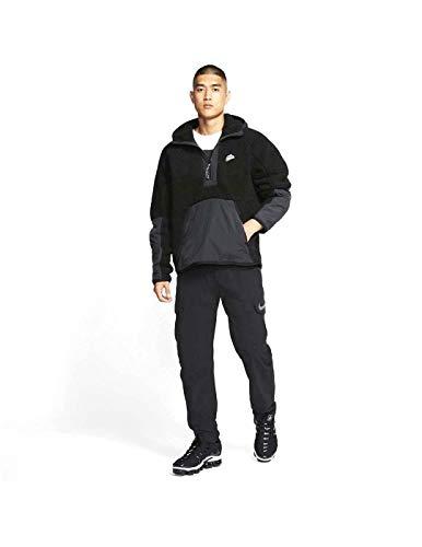 Nike Mens NSW Half Zip 1/2 Zip Sherpa Hoodie Winterized Jacket BV3766-010 Size L