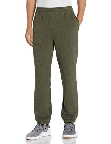 Amazon Essentials Closed Bottom Fleece Pant Pantaloni, Verde Oliva Puntinato, XXL