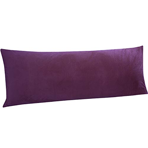 NTBAY Zippered Velvet Body Pillow Cover, for Adults Pregnant...