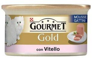 Purina Gourmet Gold Umido Gatto Mousse per Gattini con Vitello, 24 Lattine da 85 g...