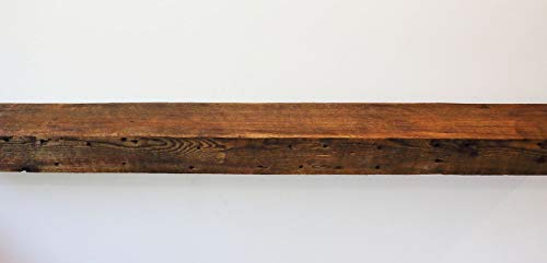 fireplace mantel mounting hardwares Parkco Rustic Fireplace Floating Mantel Shelf - Rustic Reclaimed Barn Wood Wall Decor. Mounting Hardware Included (54