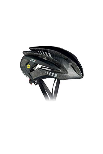 RH + Casco de Bicicleta Z Alpha MIPS Shiny Black – Matt Dark Carbón – Matt Black L/XL