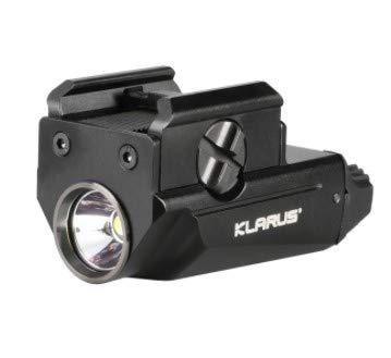 Klarus GL1+ 600 lumenes Micro Pistol Light | Linterna táctica LED para arma de 600 lumenes, alcance max 83mts, IPX6, bateria recargable de 260mAh con carga externa por microUSB