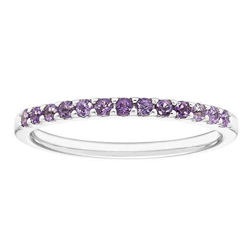 Birthstone Half-Eternity Stackable Ring by Boston Bay Diamonds