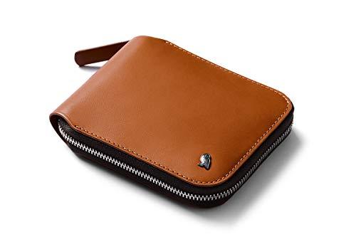 Bellroy Zip Wallet (8+ Karten, ungefaltete Geldscheine, Münzfach mit praktischem Magnetverschluss) - Caramel